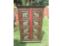 VINTAGE INDIAN DESIGN ELEPHANT STORAGE CUPBOARD SHELVING EAST SUSSEX CAN DELIVER