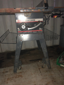 TABLE SAW 10'' 3HP WITH STAND AND BASKETS
