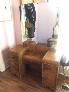 Vintage vanity with stool