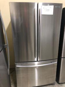 Refrigerateur blanc congélateur au bas Samsung