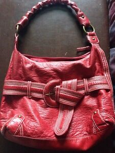 Faux leather red purse Peterborough Peterborough Area image 1