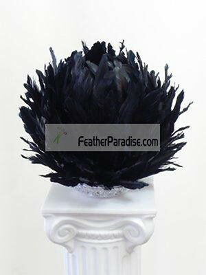 Black Large Feather Balls/Centerpieces Ball/Wedding Feather Balls  16 inch   (Feather Ball Centerpieces)