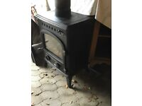 Large wood burning stove/ wood burner/ multi fuel stove