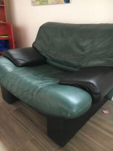 ** Leather Couch and chair **