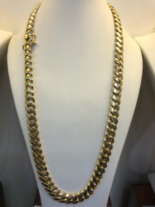 10Kt Solid Gold  Miami Cuban Chain