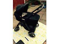 Graco xt black and grey ISO fix car seat carry cot forward/rear facing seats suspension