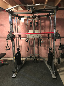 6 MONTH OLD INSPIRE FITNESS FUNCTIONAL SMITH FT2 BENCH INCLUDED