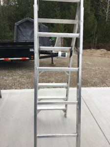 Aluminum extension/step ladder