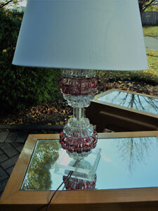 Mid century modern lamp, Lucite and glass lamp London Ontario image 1