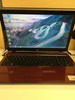 """Red 15"""" Hp Touch Laptop"""