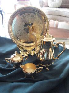 Service de thé 24 KT