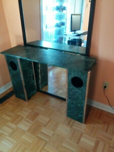 Beautiful Solid Marble Desk, Vanity, Counter – Bargain