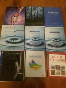 SELLING: RYERSON FIRST YEAR SCIENCE TEXTBOOKS