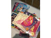 A huge pile of girls books