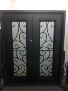 Wrought Iron Double Front Doors Punchbowl Canterbury Area Preview