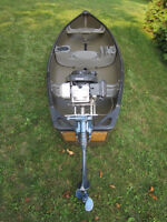 Hunters Special: Square Stern Canoe with 4HP Honda motor