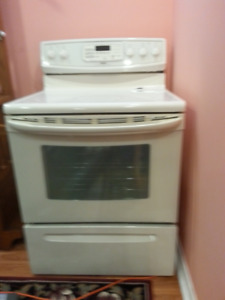 Range, Refrigerator and Above Range Microwave Combination