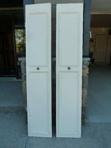 Solid wood white doors