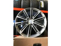 "18""alloy wheels Alloys Rims tyres tyre 5x120 120 pcd vauxhall insignia BMW 1 2 3 series x1 x3"