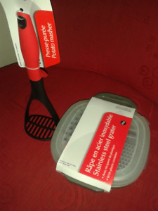 Stainless steel grater and Potato Masher - *NEW*