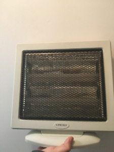 Gray electric heater