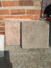 5 x 40 x 40 pink slabs