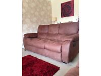 2 sofas and storage foot stool