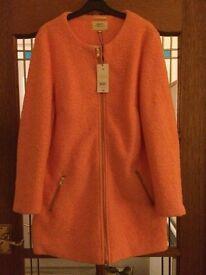 Beautiful Deep Peach Dress Coat RRP £40 Brand New