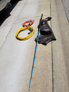 Fiberglass Fishing Rod with Reel. $150.00