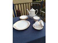 Gold rimmed vintage tea set