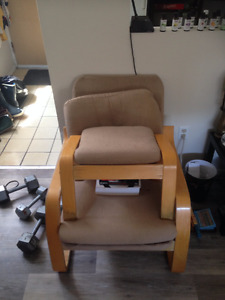 Ikea chair with ottoman, $40 or BO