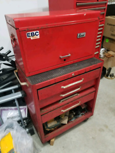 Two piece tool stand up tool box bundle.