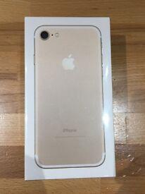 I phone 7 Gold 256gb brand new sealed box