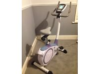 Magnetic exercise bike with HR sensors