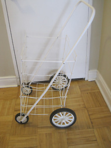 Extra large heavy duty fold  grocery cart   with 4 wheels