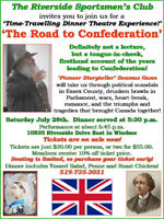 'Time Travel Dinner Theatre' ~  'The Road to Confederation'