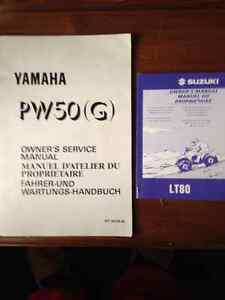 PW 50 and LT80 manuals