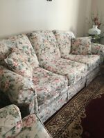 NEW PRICE!! Floral Sofa and Chair