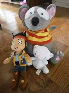 plush (stuffed) toy(Jake, toopy and binoo) and pet shop toy