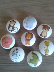 Baby Animal Closet Door / Dresser Knobs