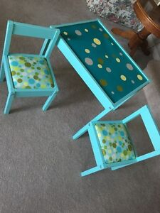 Kids Wood Table and Chairs