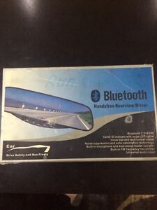 Bluetooth rearview mirror with parking sensors