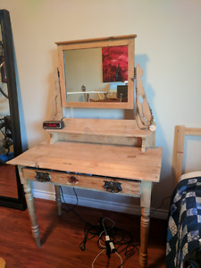 antique wooden vanity. price FIRM.