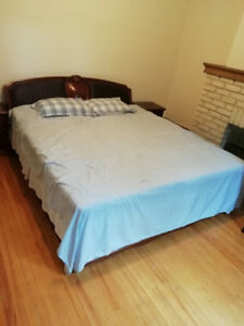 King size bed with memory foam  $200