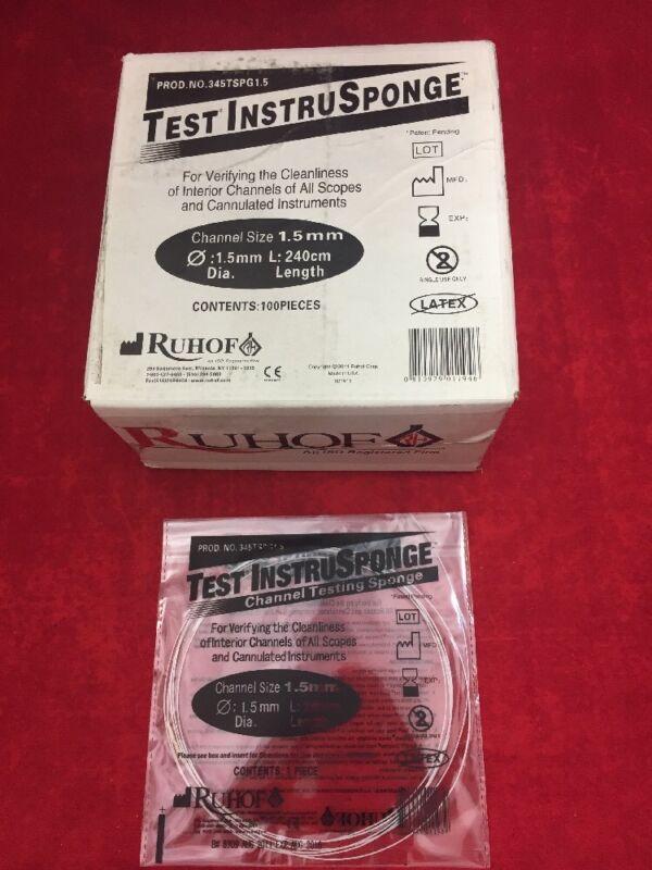 Box Of 100 Ruhof Test Instrusponge Channel Cleaning Instrument 1.5mm 345tspg1.5