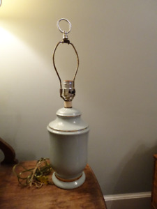 Green lamp with gold trim
