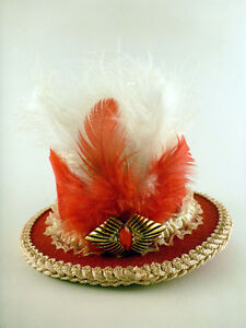 Red, White, and Pink Mini Top Hat Fascinator