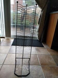 Black Wire DVD/ Blu Ray/ Video Game Tower Rack LIKE NEW