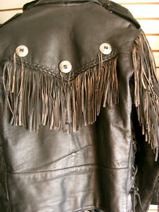 Classic fringed bikers jacket  recycledgear.ca Kawartha Lakes Peterborough Area image 8