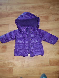 Gap down filled coat size 12-18 months